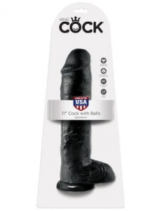 "King Cock 28 cm/11"" Cock with Balls black"