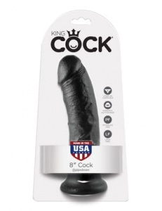 "King Cock 20 cm/8"" Cock black"