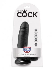 "King Cock 18 cm/7"" Cock with Balls black"
