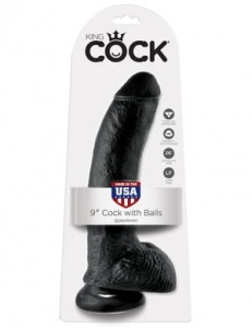 "King Cock 22 cm/9"" Cock with Balls black"