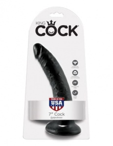 "King Cock 18 cm/7"" Cock black"