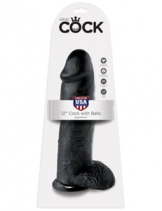 "King Cock 31 cm/12"" Cock with Balls black"