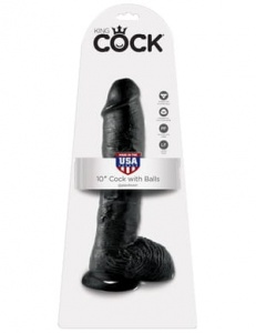 "King Cock 25 cm/10"" Cock with Balls black"