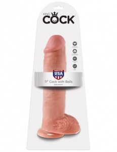 "King Cock 28 cm/11"" Cock with Balls skin"