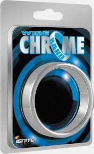 Ignite WIDE Chrome BAND Ring 51 mm - 2""