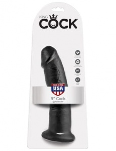 "King Cock 22 cm/9"" Cock black"