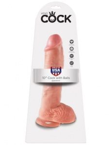 "King Cock 25 cm/10"" Cock with Balls skin"